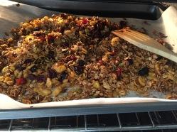 granola en el horno