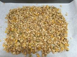 granola lista para el horno